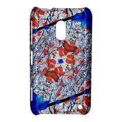Floral Pattern Digital Collage Nokia Lumia 620 Hardshell Case by dflcprints