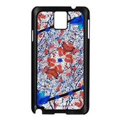 Floral Pattern Digital Collage Samsung Galaxy Note 3 N9005 Case (black) by dflcprints