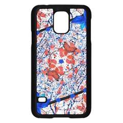 Floral Pattern Digital Collage Samsung Galaxy S5 Case (black) by dflcprints