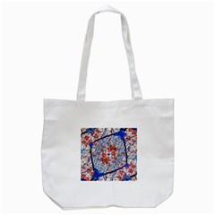 Floral Pattern Digital Collage Tote Bag (white) by dflcprints
