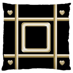 Black And Gold 2 Large Flano Cushion Case By Deborah   Large Flano Cushion Case (two Sides)   A7mdapdknoai   Www Artscow Com Back