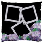 Black and Lilac Large Flano Cushion Case - Large Flano Cushion Case (Two Sides)