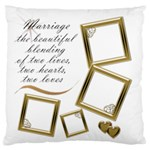 Marriage Large Flano Cushion Case - Large Flano Cushion Case (Two Sides)