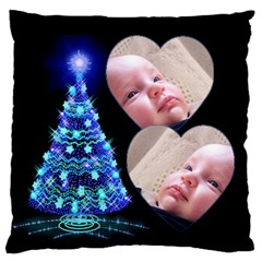 O Christmas Tree Large Flano Cushion Case By Deborah   Large Flano Cushion Case (two Sides)   37zlzjajdqpk   Www Artscow Com Front