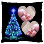 O Christmas Tree Large Flano Cushion Case - Large Flano Cushion Case (Two Sides)
