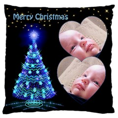 O Christmas Tree Large Flano Cushion Case By Deborah   Large Flano Cushion Case (two Sides)   37zlzjajdqpk   Www Artscow Com Back