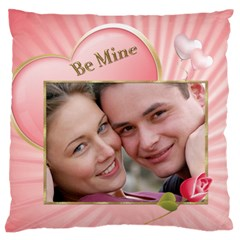 Be Mine Large Flano Cushion Case By Deborah   Large Flano Cushion Case (two Sides)   0hwv66e7ybz3   Www Artscow Com Back