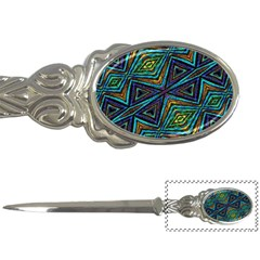 Tribal Style Colorful Geometric Pattern Letter Opener by dflcprints