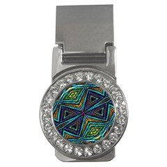 Tribal Style Colorful Geometric Pattern Money Clip (cz) by dflcprints