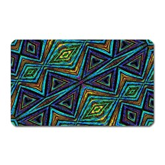 Tribal Style Colorful Geometric Pattern Magnet (rectangular) by dflcprints