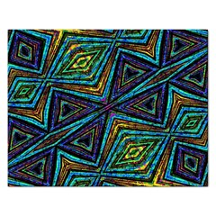 Tribal Style Colorful Geometric Pattern Jigsaw Puzzle (rectangle) by dflcprints