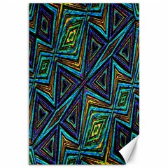 Tribal Style Colorful Geometric Pattern Canvas 12  X 18  (unframed) by dflcprints