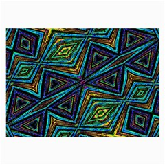 Tribal Style Colorful Geometric Pattern Glasses Cloth (large, Two Sided)