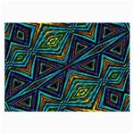 Tribal Style Colorful Geometric Pattern Glasses Cloth (Large, Two Sided) Front