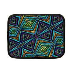 Tribal Style Colorful Geometric Pattern Netbook Sleeve (Small) by dflcprints