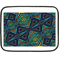 Tribal Style Colorful Geometric Pattern Mini Fleece Blanket (two Sided) by dflcprints