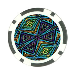 Tribal Style Colorful Geometric Pattern Poker Chip (10 Pack) by dflcprints