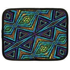 Tribal Style Colorful Geometric Pattern Netbook Sleeve (xxl) by dflcprints