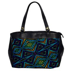 Tribal Style Colorful Geometric Pattern Oversize Office Handbag (one Side) by dflcprints