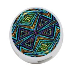 Tribal Style Colorful Geometric Pattern 4 Port Usb Hub (two Sides) by dflcprints