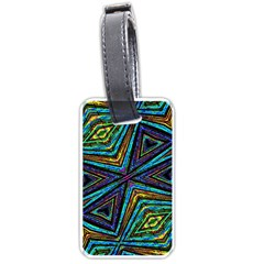 Tribal Style Colorful Geometric Pattern Luggage Tag (one Side) by dflcprints