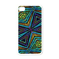 Tribal Style Colorful Geometric Pattern Apple Iphone 4 Case (white) by dflcprints