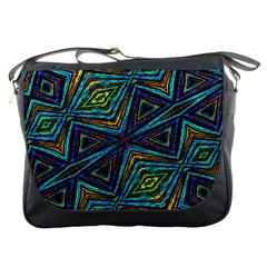 Tribal Style Colorful Geometric Pattern Messenger Bag by dflcprints