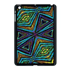 Tribal Style Colorful Geometric Pattern Apple Ipad Mini Case (black) by dflcprints