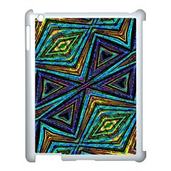 Tribal Style Colorful Geometric Pattern Apple Ipad 3/4 Case (white) by dflcprints