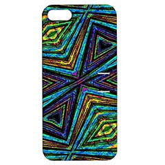 Tribal Style Colorful Geometric Pattern Apple Iphone 5 Hardshell Case With Stand by dflcprints