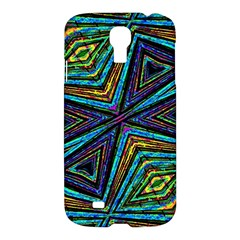 Tribal Style Colorful Geometric Pattern Samsung Galaxy S4 I9500/i9505 Hardshell Case by dflcprints