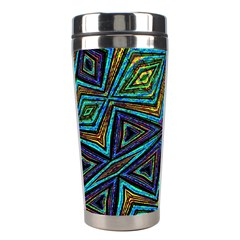 Tribal Style Colorful Geometric Pattern Stainless Steel Travel Tumbler by dflcprints