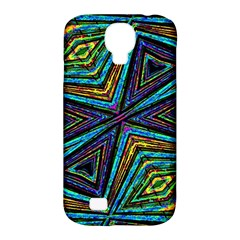 Tribal Style Colorful Geometric Pattern Samsung Galaxy S4 Classic Hardshell Case (pc+silicone) by dflcprints