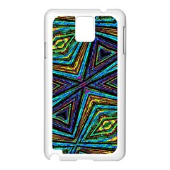 Tribal Style Colorful Geometric Pattern Samsung Galaxy Note 3 N9005 Case (White)