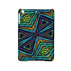 Tribal Style Colorful Geometric Pattern Apple Ipad Mini 2 Hardshell Case by dflcprints