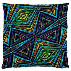 Tribal Style Colorful Geometric Pattern Standard Flano Cushion Case (one Side) by dflcprints