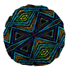 Tribal Style Colorful Geometric Pattern 18  Premium Flano Round Cushion  by dflcprints