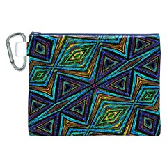 Tribal Style Colorful Geometric Pattern Canvas Cosmetic Bag (xxl) by dflcprints