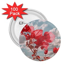 Flowers In The Sky 2 25  Button (100 Pack) by dflcprints