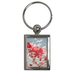 Flowers In The Sky Key Chain (rectangle) by dflcprints