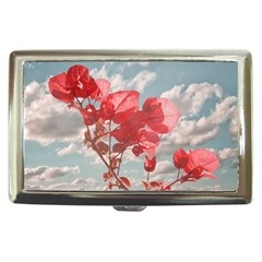 Flowers In The Sky Cigarette Money Case by dflcprints