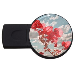 Flowers In The Sky 2gb Usb Flash Drive (round) by dflcprints
