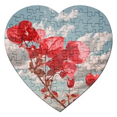 Flowers In The Sky Jigsaw Puzzle (heart) by dflcprints