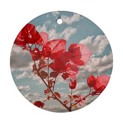 Flowers In The Sky Round Ornament (two Sides) by dflcprints