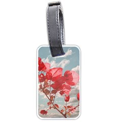 Flowers In The Sky Luggage Tag (one Side) by dflcprints