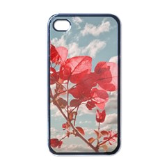 Flowers In The Sky Apple Iphone 4 Case (black) by dflcprints