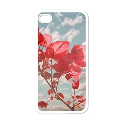 Flowers In The Sky Apple Iphone 4 Case (white) by dflcprints