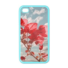 Flowers In The Sky Apple Iphone 4 Case (color) by dflcprints