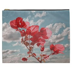Flowers In The Sky Cosmetic Bag (xxxl) by dflcprints