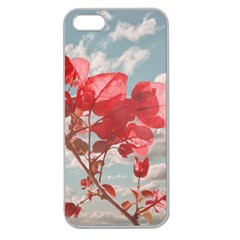 Flowers In The Sky Apple Seamless Iphone 5 Case (clear) by dflcprints
